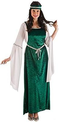 Disfraz de Dama Medieval verde para mujer: Amazon.es: Juguetes y ...