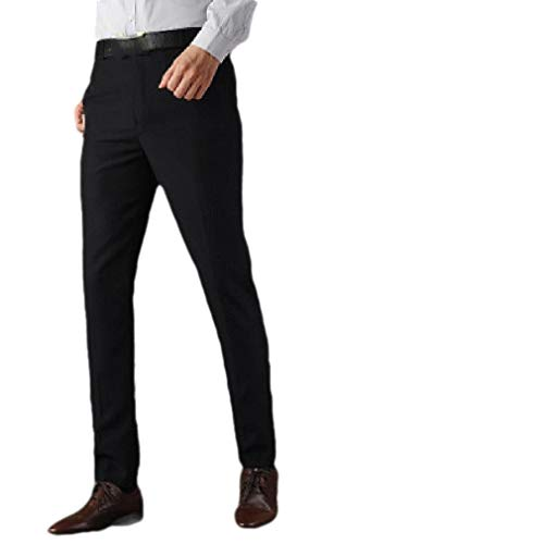 CuteRose Men's Comfy Custom Fit Slim Fitted Pleated Front Pants Trousers AS1 29