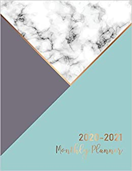 Calendar Book 2021 Amazon.com: 2020 2021 Monthly Planner: Marble Cover | 2 Year