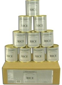 1 Case/12 Cans of Canned Long Grain White Rice by Future Essentials
