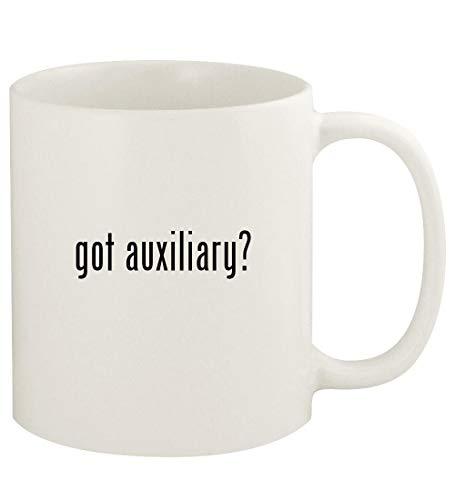 got auxiliary? - 11oz Ceramic White Coffee Mug Cup, White