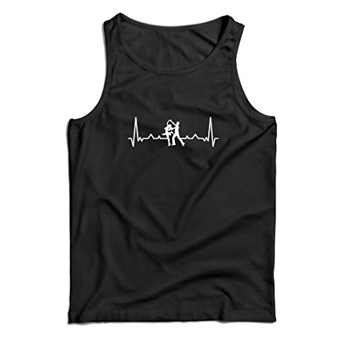 lepni.me Men's Tank Top Dancing with Heartbeat Dance Lover Shirt Dancer Outfit (Small Black Multi -