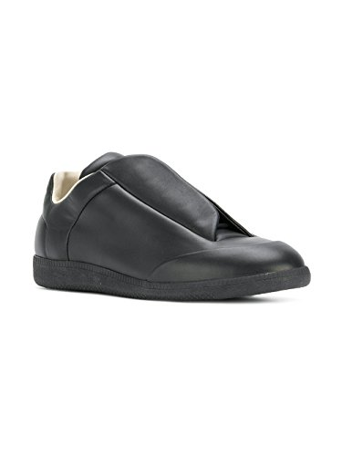 Maison Margiela Mens S57ws0191sy0645900 Slip In Pelle Nera Su Sneakers