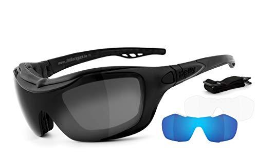 HELLY® – No. 1 Bikereyes® | Motorradbrille, Multifunktionsbrille, Bikerbrille | beschlagfrei, winddicht | Wechselgläser…