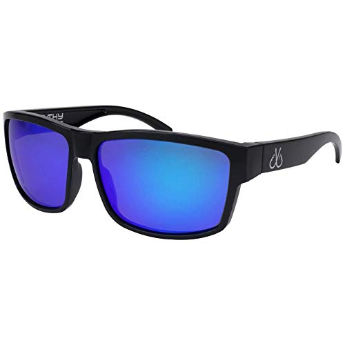 (Filthy Anglers Ames Polarized Sport Fishing Sunglasses - Black/Blue Mirror)