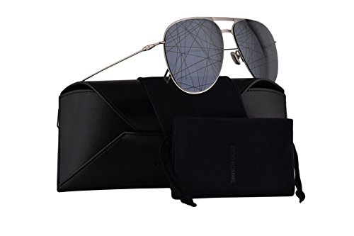 Christian Dior Homme Dior0205S Sunglasses Palladium Black w/Grey Mirror Gradient Lens 59mm 84JMD Dior0205/S Dior 0205/S Dior 0205S