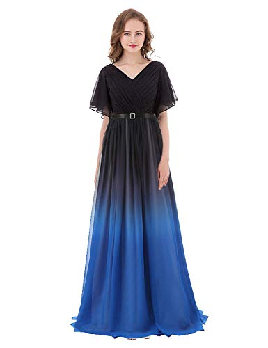Dress Chiffon BW048 Prom Pageant Ihblue Long Ombre Women's Gown BessWedding 2019 Party BqvCwEIWtx