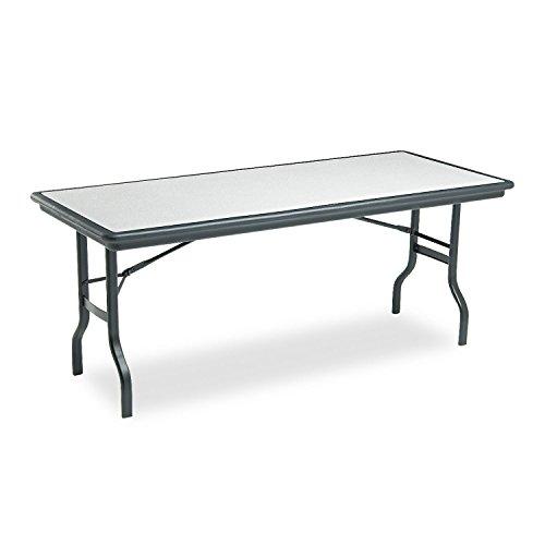 Iceberg 65127 IndestrucTables Resin Rectangular Folding Table, 72w x 30d x 29h, Granite/Black by Iceberg
