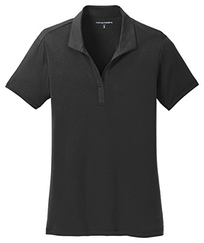 Port Authority Ladies Cotton Touch Performance Polo, Black, Large