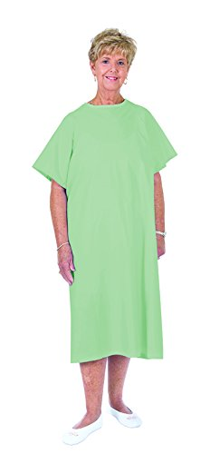 Essential Medical Supply Universal Fit Reusable Patient Gown with Ties, Mint ()