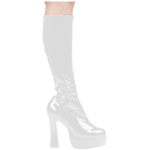 White Knee Boots (Ellie Shoes Women's Chacha Boot, White, 9 M US)