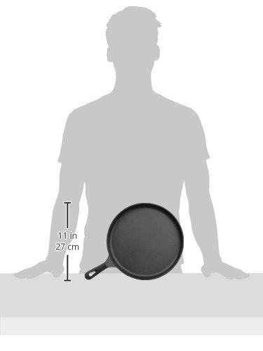 AmazonBasics Pre-Seasoned Cast Iron Round Griddle - 10.5-Inch by AmazonBasics (Image #6)