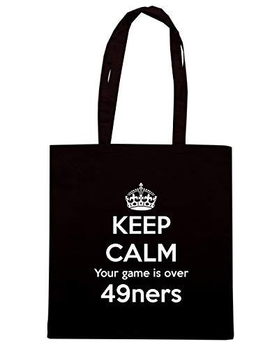 TKC3341 Borsa Nera CALM Shopper YOUR 49NERS IS KEEP OVER GAME HwHrqfgEx