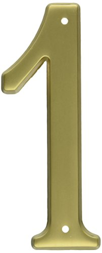 Baldwin 90671034 # 1 House Number, Lacquered Vintage (Lacquered Vintage Brass Door)
