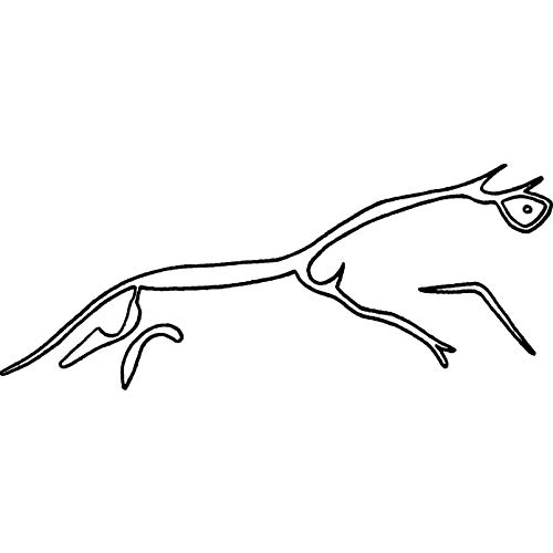 (Azeeda A7 'Uffington White Horse' Unmounted Rubber Stamp (RS00009802))