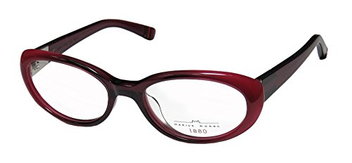 Marius Morel 1880 2031m Womens/Ladies Ophthalmic 2015 Season Designer Full-rim Eyeglasses/Glasses (51-17-135, Raspberry)