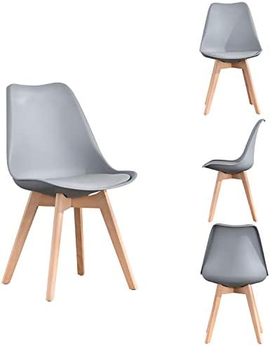 ExAchat Set of 4 Tulip Dining Chair