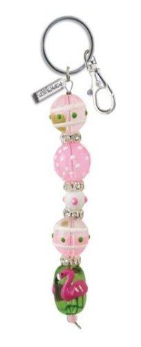 Hand Painted Glass Beaded Keychains-Ladybug, Owl, Cupcake and More!! (Flamingo (Beaded Keychain Designs)