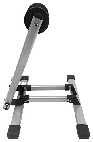 (MaxxHaul 80717 Foldable Floor Bike Stand Fits 20