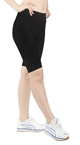 iLoveSIA Women's Tight Capri Yoga Workout Shorts US Size XL Black