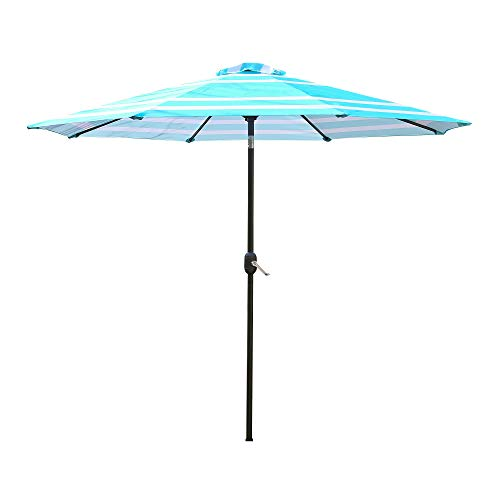 Light Blue Garden Parasol in US - 9
