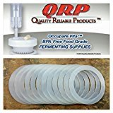 QRP SEALS for Mason Jars Reusable Food Grade Silicone STAY INSIDE the REGULAR or WIDE MOUTH Plastic Cap Lid (12-3