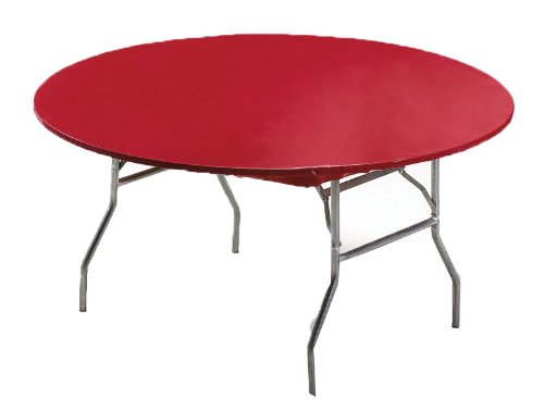 Creative Converting Round Stay Put Plastic Table Cover, 60-Inch, Regal Red - 37227 ()