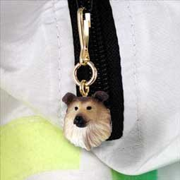 Conversation Concepts Collie Sable Zipper Charm