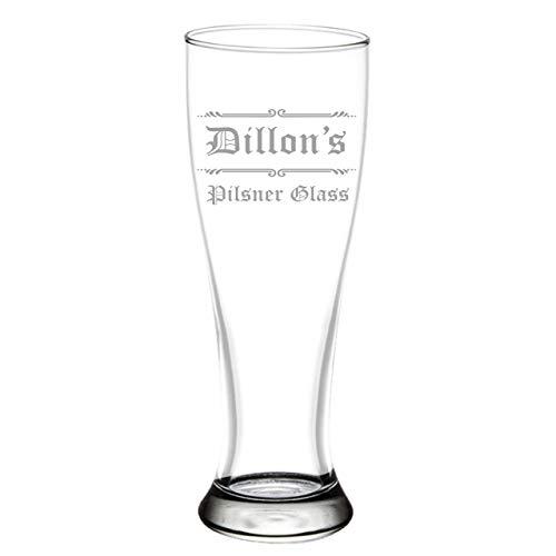 Custom Engraved Craft Pilsner Glass for Craft Beer, 16oz Gift Beer Glasses Christmas Gift for Husband, Boyfriend, Beer Gifts for Him, - Glass Engraved Classic Pilsner