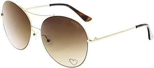 GUESS Factory Women's Round Metal Aviator - Signature Aviator Sunglasses