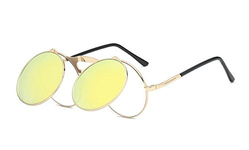 Huateng soleil de Lunettes style pour Or gothique rétro de soleil et lunettes de Or hommes vintage femmes 4g4qTrwf