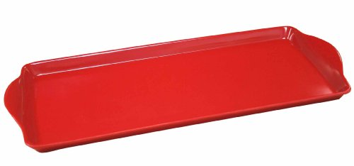 Calypso Basics by Reston Lloyd Melamine Tidbit Tray, Red