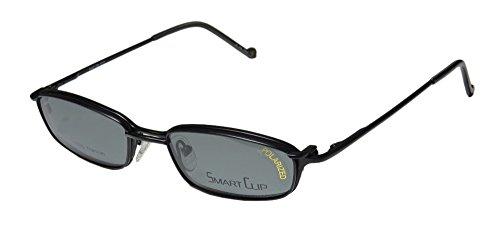 SmartClip 511t Mens/Womens Designer Full-rim Titanium Sunglass Lens Clip-Ons Flexible Hinges Eyeglasses/Eyeglass Frame (51-18-140, Matte - Sunglasses Titanium Flexible