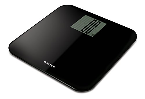 Salter Max Capacity 250 kg Digital Bathroom Scales – Easy Read Display, Large Platform for More Foot Room, Step-On for Instant Weight Reading, Carpet Feed for Accuracy on Uneven Floors - Black