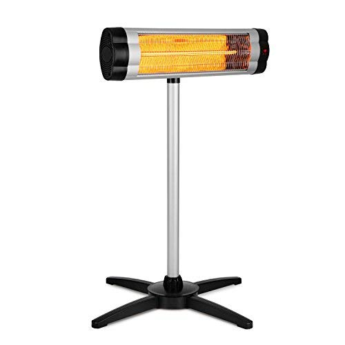 Infrared Radiant Heater • 500, 1000, 1500 W • Carbon Heating Element • Telescopic Stand • Remote Control • Aluminium • Silver ()