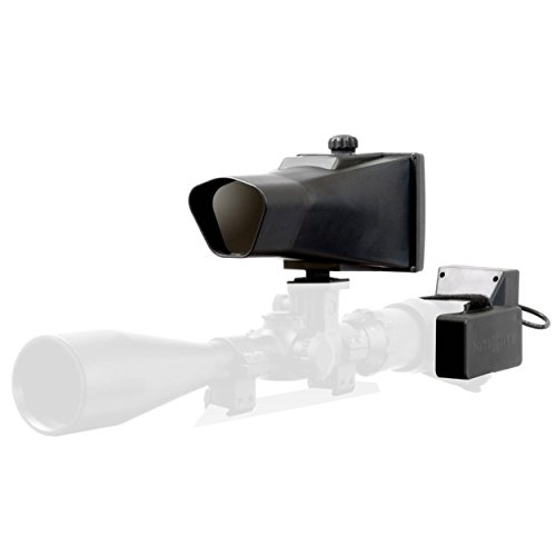 Nite Site Viper 110 Yards Identification Range Scope Mounted Night Vision System for Zero Light Hunting (Black, Full Kit)