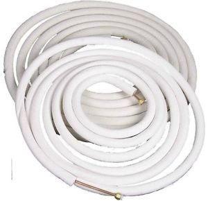 "Insulated Copper Lineset - Flared with Unions - 1/4"" x 3/8"" (25ft) Air Conditioner/Ductless/Minisplit"