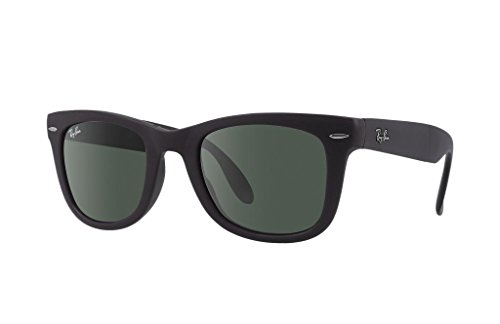 Ray Ban RB4105 601S 50mm Matte Black Folding Wayfarer Bundle-2 - Wayfarer Ray Matte Folding Black Ban