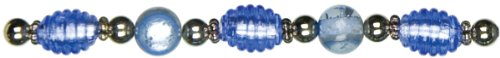 Strand Light Sapphire (Cousin Jewelry Basics Glass Bead Strand, 8.5-Inch, Light Sapphire)