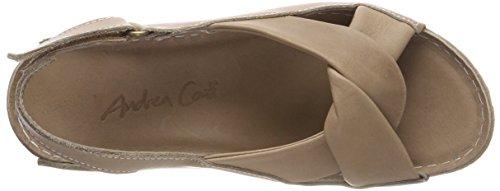 Conti 066 Women's Beige Andrea Taupe Sandals Heels 0027437 qdxwv8