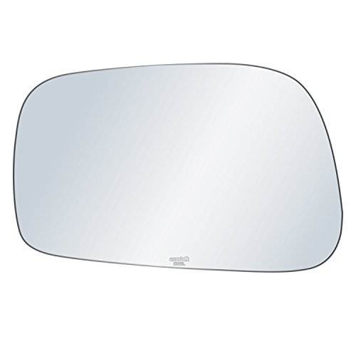 exactafit 8162L Replacement Driver Left Side Mirror Glass Flat Lens fits 2003-2008 Toyota Corolla Matrix Pontiac Vibe by Rugged TUFF