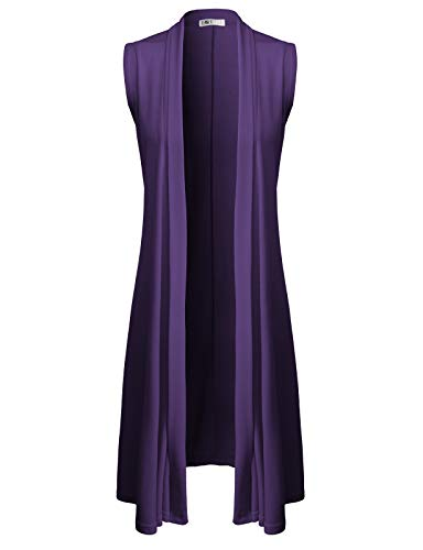H2H Womens Open Front Draped Basic Designed Cardigan with Various Styles Purple US L/Asia L (CWOCASL04)