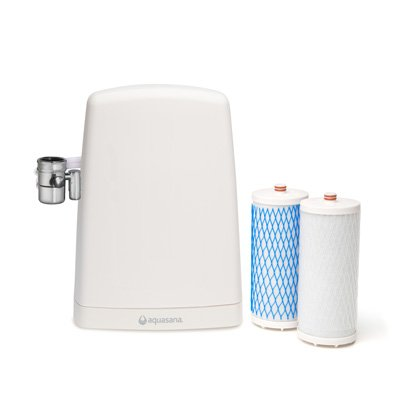 Aquasana Countertop Drinking Soak Filter System, White