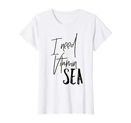 "Womens Beach T-Shirt; I Need Vitamin ""SEA"""