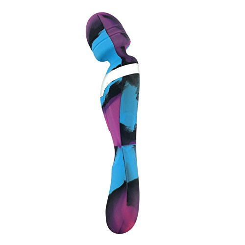 Multi-Speed Female Silicone Vibrator Powerful Dual Motor Vibrating Massager for Women Rechargeable Waterproof Wireless Massager G-spot Stimulator for Female Masturbator (Purple+Blue)