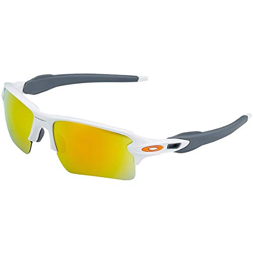Oakley Men's Gradient Flak OO9188-19 White Rectangle Sunglasses