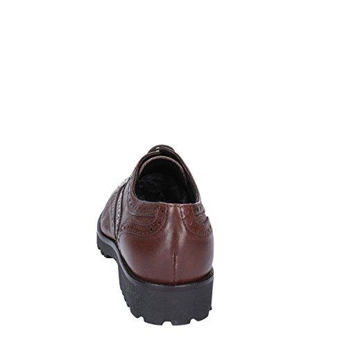 Oxford Marrone Pelle 41 Classiche Donna amp; Scuro Shoe EU A M qtZZHp