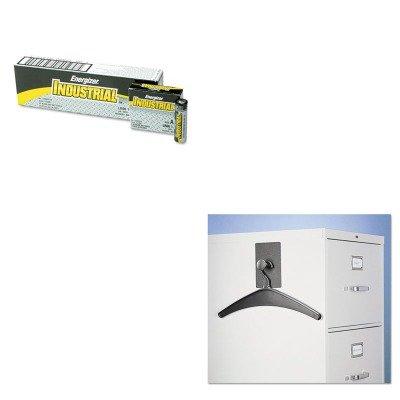 KITEVEEN91QRT2015M - Value Kit - Quartet Magnetic Coat Hook w/Heavy-Duty Hanger (QRT2015M) and Energizer Industrial Alkaline Batteries (EVEEN91)