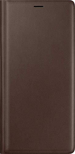 - Samsung Galaxy Note9 Case, Genuine Leather Wallet Flip Cover, Brown