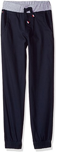 - Tommy Hilfiger Little Boys' Pull on Twill Stretch Jogger Pant, Swim Navy, 5